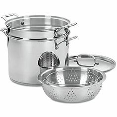 Cuisinart Chef's Classic Stainless 4-piece Pasta/ Steamer Set $80. Overstock.com