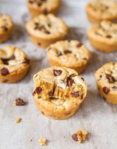 Browned Butter Chocolate Chip Cookie Cups - Dense, rich, buttery, gooey & impossible to spread because they're made in a muffin pan! Easy recipe at averiecooks.com