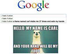 Carl! That kills people, Carl!