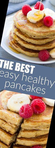 #Pancake #Recipe #Pancakes #Healthy Pancake Recipe For One 9+ Healthy Pancakes - The Best Easy Healthy Pancake Recipe!   Pancake Recipe For One Person   2020 Easy Pancake Recipe Without Milk, Pancakes Recipe For One Person, One Person Meals, Meals For One, Pancakes Easy, Oatmeal, Easy Meals, Good Things, Healthy