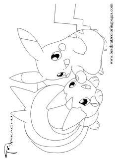 Ninja Pikachu Coloring Page Pokemon