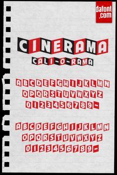 Cinerama Font | dafont.com