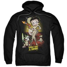Adult's Cotton/ Betty Boop/Star Princess Pull-over Hoodie, Men's