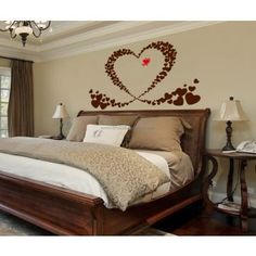 Love Love Love Wall Decals Modern Wall Decals, Love Wall, Wall Stickers, City Skylines, Bed, Furniture, Home Decor, Wall Clings, Wall Decals