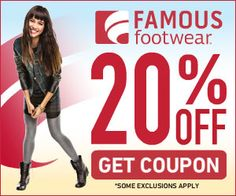 Hot Famous Footwear Coupon Plus More Restaurant and Retail Coupons