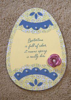 CTMH Art Philosophy CRICUT cartridge Easter egg card