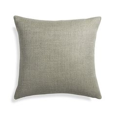 "Herringbone Ocean 20"" Pillow with Down-Alternative Insert  | Crate and Barrel"