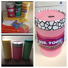 Made these box tops containers for my students! Fun and easy to do.