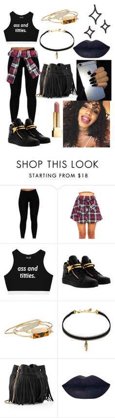 """""""I'm confused🤔😐"""" by honeygurl ❤ liked on Polyvore featuring Minga, Giuseppe Zanotti, GUESS, Vanessa Mooney, Whistles and Yves Saint Laurent"""