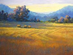 Sharp's Farm Morning by Marianna McDonald. A wonderful pastel artist!