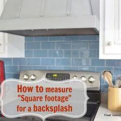 Decorating ideas on pinterest kitchen backsplash for Calculate flooring square footage