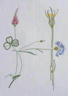 Field flowers alphabet - H – French Needlework Kits, Cross Stitch, Embroidery, Sophie Digard – The French Needle
