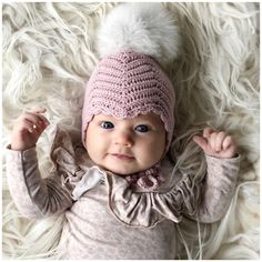 Beanie Hats for Cute Babies FREE Crochet Pattern Image and Ideas 2019 - Page 9 of 57 - Daily Crochet! Vestidos Bebe Crochet, Crochet Bebe, Free Crochet, Knit Crochet, Crochet Hats, Crochet Dresses, Crochet Baby Blanket Beginner, Crochet Baby Beanie, Baby Patterns