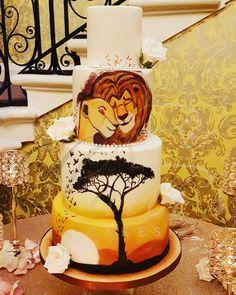 Harvi's Cakes Wedding Cake, Birthday Cake, Engagement Cake, Baby Cake, Indian We. Lion King Wedding, Lion King Party, Lion King Birthday, Wedding Cake Flavors, Wedding Cakes With Cupcakes, Cake Wedding, Party Wedding, Wedding Ideas, Lion King Cupcakes