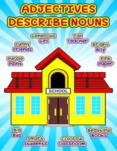 School Adjective Poster #Adjectives #adjectives