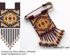 Две схемы - мозаичное плетение - peyote patterns