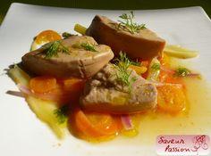 Escabèche de foie gras au fenouil et kumquats