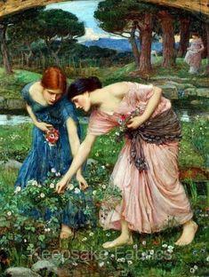 Gather Ye Rosebuds ~ Waterhouse Fabric Block