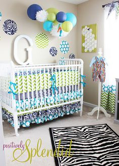 Love every detail of this baby boy nursery from Positively Splendid! #baby #nursery