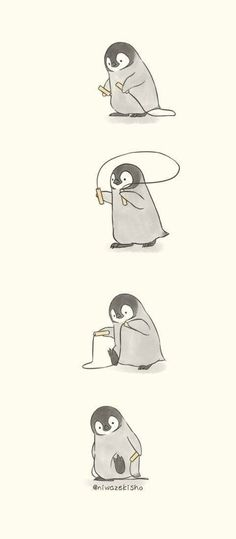 ideas memes apaixonados pinguim for 2019 Cute Funny Animals, Cute Baby Animals, Funny Cute, Cartoon Mignon, Art Mignon, Cute Animal Drawings, Funny Drawings, Adorable Drawings, Drawing Animals