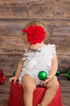 Red Lace Mesh Puff Christmas Headband  by OnceUponATimeTuTus, $5.99