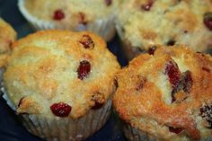 Cranberry Orange Muffins. I altered the recipe by using 1 1/2 cups pureed whole clementines instead of juice and zest, and added almonds - delicious!