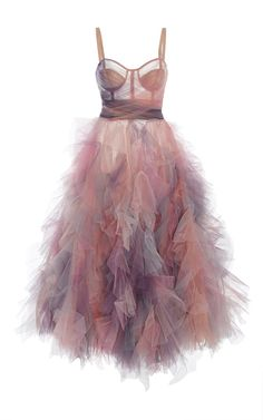 Marchesa Pastel Tulles Dress