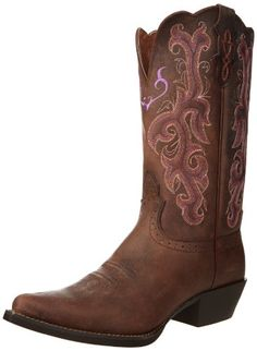 Justin Boots Women's Stampede Western Boot,Chocolate Puma Cow,8 B US Justin Boots,http://www.amazon.com/dp/B005LC8AKE/ref=cm_sw_r_pi_dp_QVnjsb0JNWHFMGS7