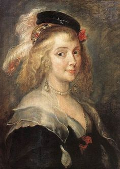 Peter Paul Rubens (workshop of ?), Portrait of Helena Fourment (?) (ca. mid-XVII C.) - Museum of Fine Arts, Brussels, Belgium