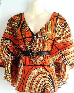 Favoloso by Nanu ^Orange print kimono top
