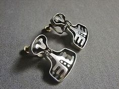 Modernist Salvador Teran Drop Earrings - Great Design