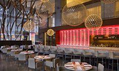Moooi lights aren't cheap. Aria restaurant Urszula Tokarska Stephen R Pile Architect Commercial Design, Commercial Interiors, Diy Design, Modern Design, Design Ideas, Restaurant Interior Design, Outdoor Restaurant Design, Brewery Interior, Retail Interior Design