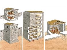 """""""Towers of Perge (late 3rd century BC), Diocaesarea (3rd century BC) and Assos (late 3rd century BC)"""""""