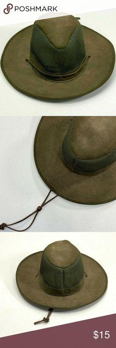 a359380a414 Henschel Hat Co. USA Aussie Breezer Henschel Hat Co Aussie Breezer Cotton  Hat Size Small