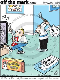 guitar hero vs guitar villain cartoon