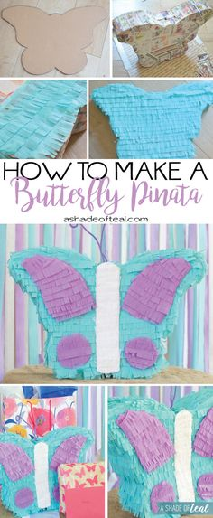 Summer is the best time to celebrate birthdays and American Greetings at @Walmart has a great selection of Birthday cards and wrap. They've inspired me to make a Butterfly Piñata. Go check out the full tutorial. #CelebrateAmazingBDays #ad | A Shade Of Teal