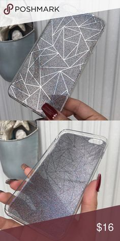 END OF YEAR SALE ! sparkly iPhone 6 Plus case ✨ Dark gray sparkly iPhone 6 Plus case ✨ Accessories Phone Cases