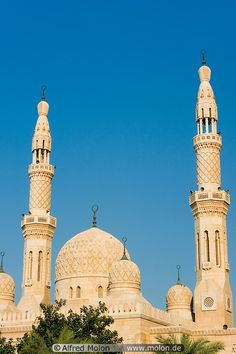 Jumeirah mosque minarets