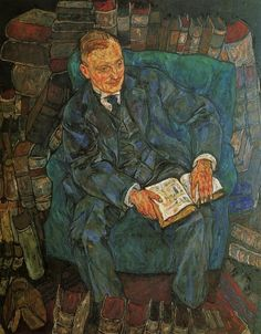 Egon Schiele (Austrian, Expressionism, 1890-1918): Portrait of Dr. Hugo Koller, 1918. Oil on canvas