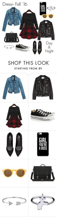 """""""Dress+ (Plus) '16 #dress"""" by hellobijoustyling ❤ liked on Polyvore featuring White House Black Market, Acne Studios, Converse, CÉLINE and Bling Jewelry"""
