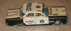Corvair tin toy police car