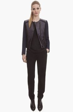 sandro 'Vernis' Two Tone Jacket available at #Nordstrom
