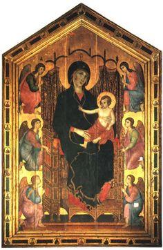 Madonna Rucellai di Duccio di Buoninsegna (XIII sec.) // Madonna duecentesca più grande in assoluto.