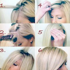 hair by Megan Mikita: HOW TO: The Perfect Side Swept Bang I need to learn to do this so I dont look like I got hit by a bottle of glue.