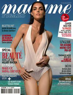 Madame Figaro spécial beauté avec la top Hilary Rhoda. 30 pages make-up, soins, cheveux... 13 avril 2012