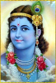 "✨ SHRI KRISHNA ✨""Shri Krishna's eyes are long like petals of a blooming lotus, and His very charming lotus-like face is made all the more charming by His extremely beautiful and sweet, nectarous smiles.""~Bilvamangala Thakura–Krishna karnamrita"
