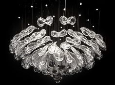 LED handmade blown glass chandelier ALICE by Lasvit | design Petra Krausová