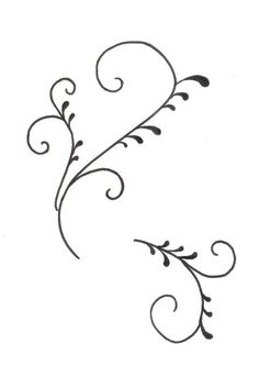Scroll Template for cake decorating