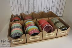 these cute boxes matches perfect for a Washi Tape Display - Kerstin Kreis