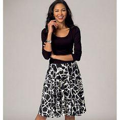 Misses' Skirts, KwikSew 4137 Recommended fabrics: Jersey, Interlock, Matte Jersey, Ponte Knits
